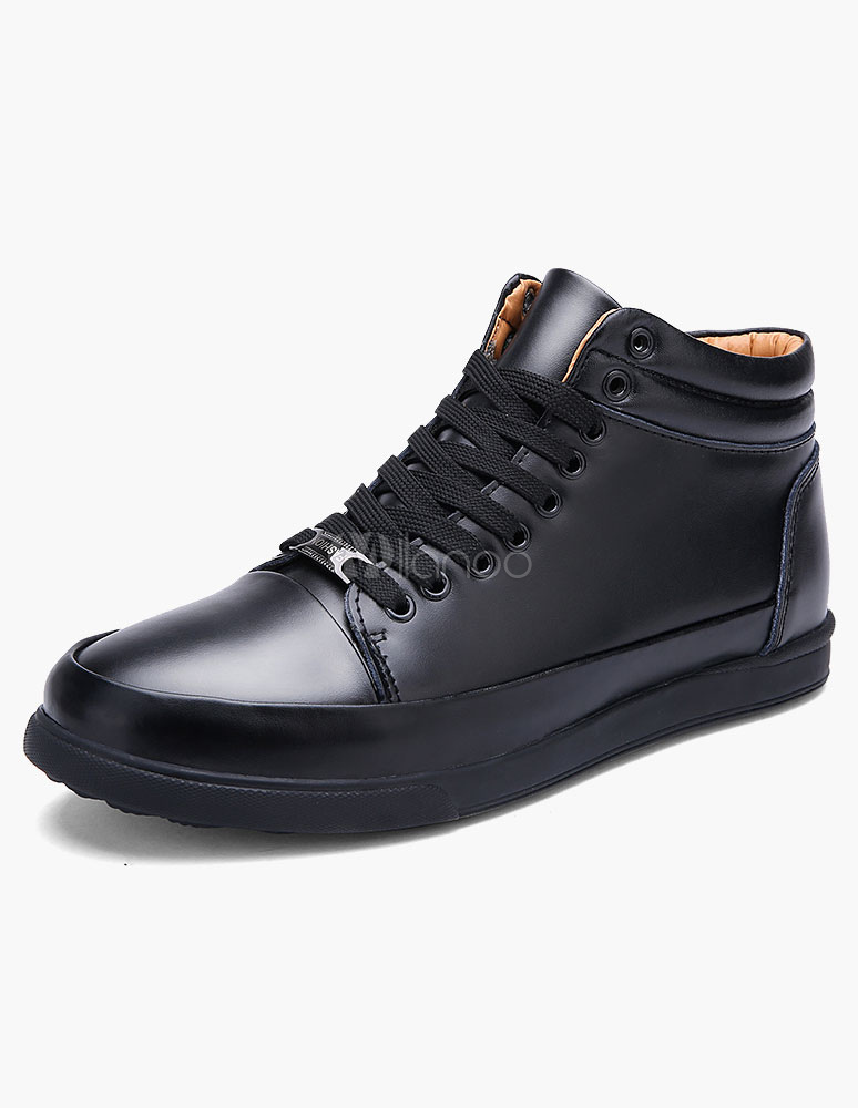 Milanoo / Lace Up High-top Flat Boots