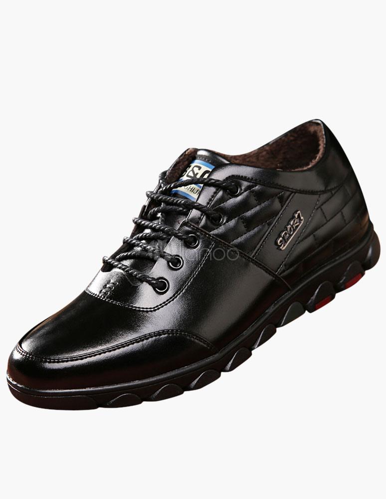 Dedo del pie redondo de encaje hasta zapatos del elevador u0I0KT