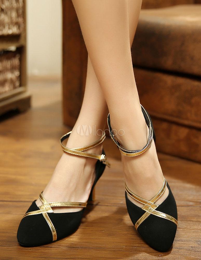 Almendra del dedo del pie zapatos de salón de baile dEHd27u