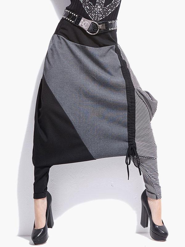 Color Block Hip Hop Harem Pants Cheap clothes, free shipping worldwide