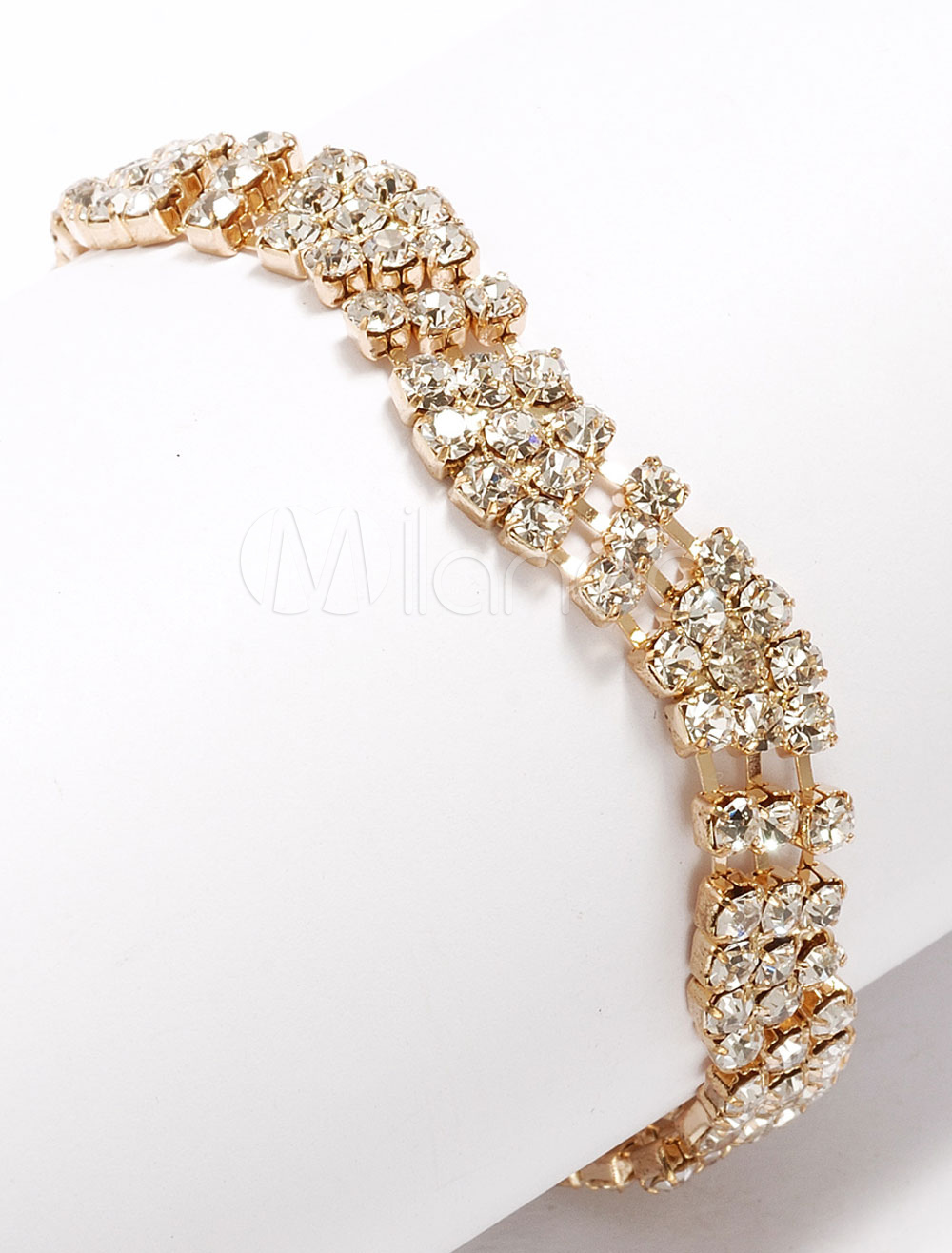 Buy Wave Style Rhinestone Women's Link Bracelet for $11.99 in Milanoo store