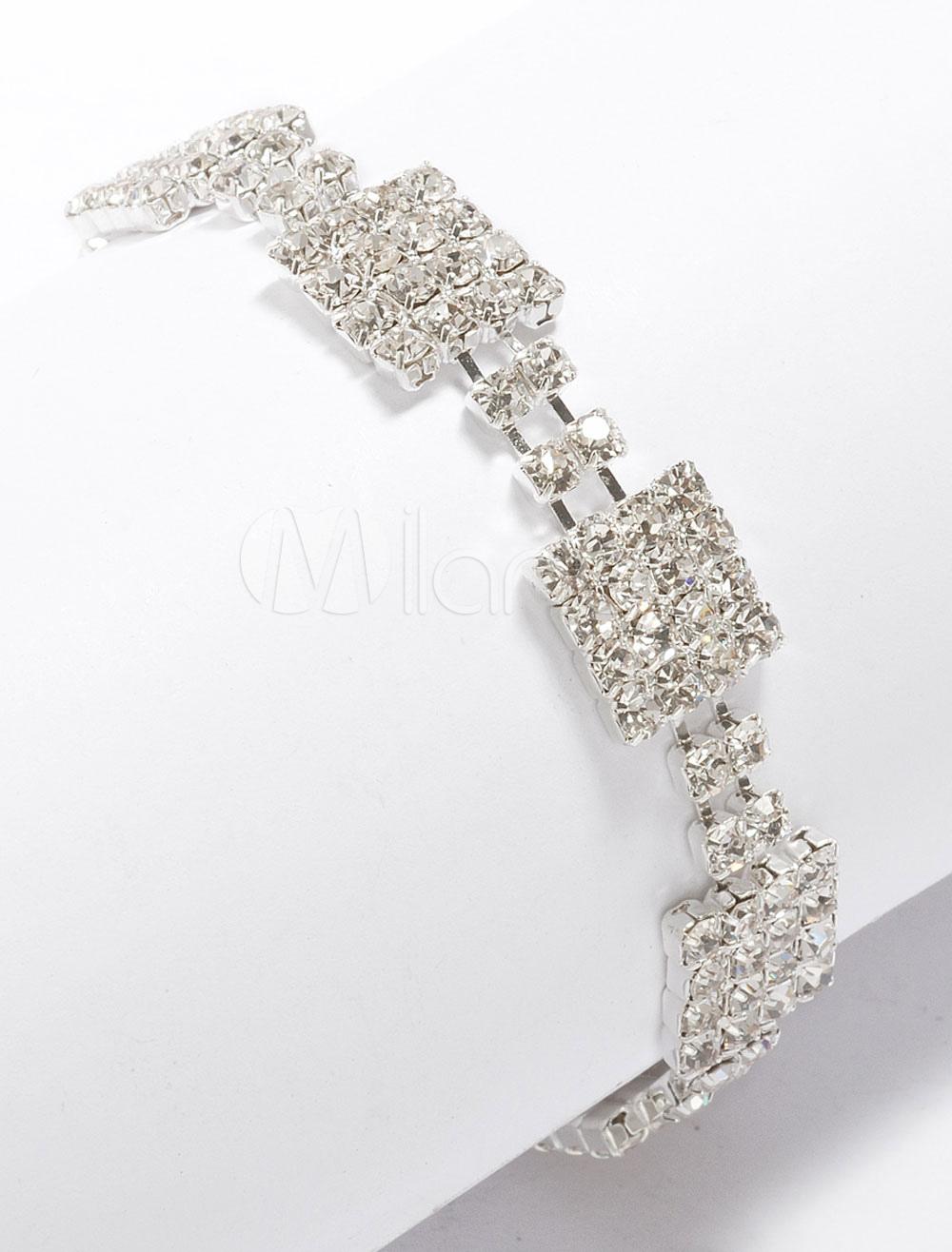 Buy Square Style Women's Rhinestone Bracelet for $11.99 in Milanoo store