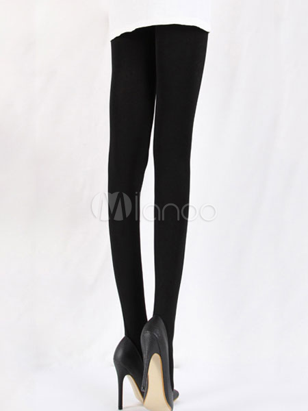Women Black Leggings Spandex Pantyhose