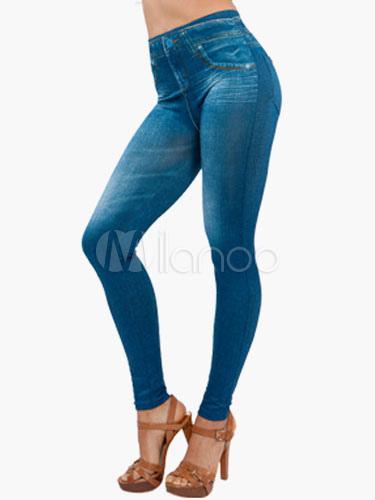 Slim Fit Denim Leggings