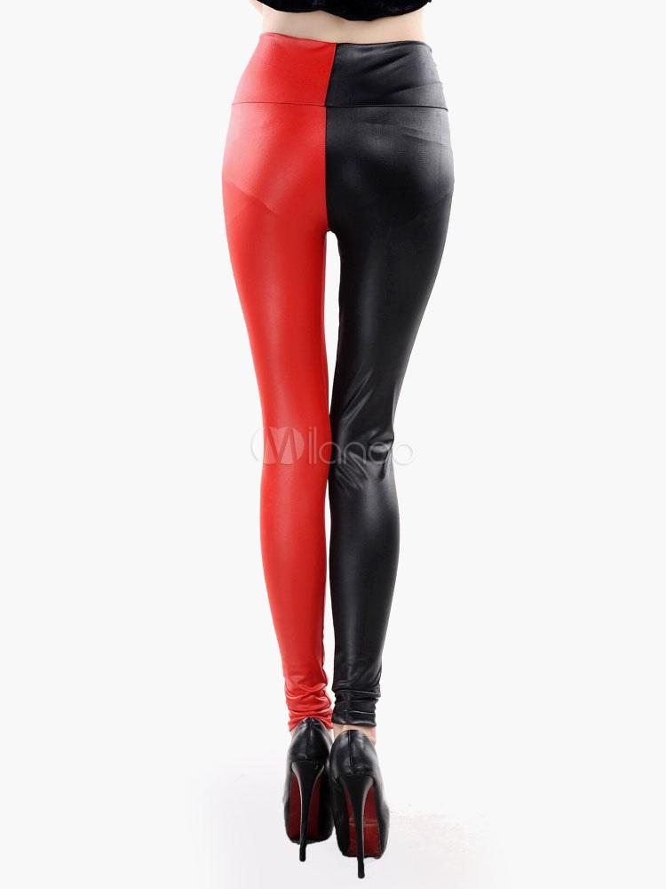 taille 7 vêtements de sport de performance plus de photos Caleçon de qualité femme rouge casual en spandex bicolore