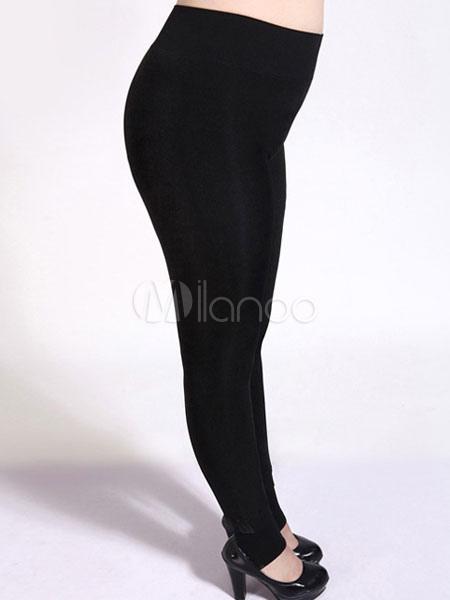 e1512d53f36676 Spandex Fleece Lined Stirrup Leggings - Milanoo.com