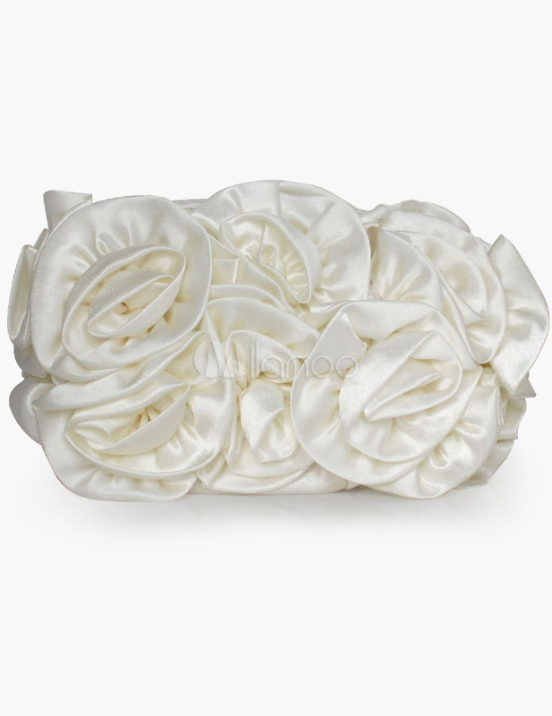 Flower Design Evening Bag Available in 4 Colors