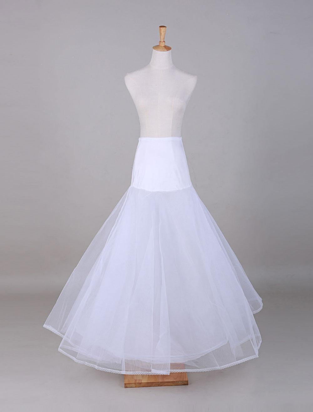 White Tulle A-Line Slip Wedding Petticoat