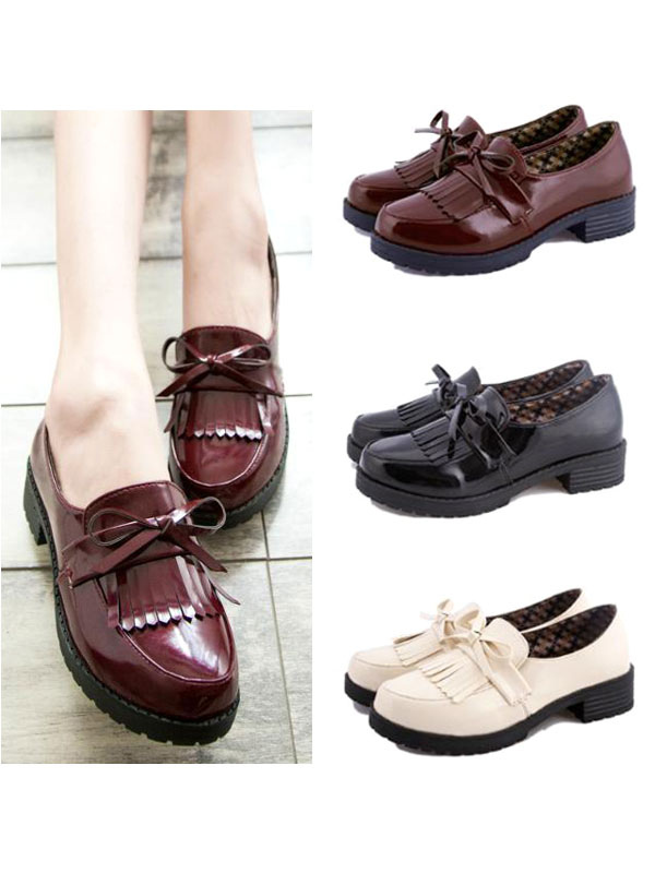 Girls Fringed Leather Cosplay Shoes  Halloween