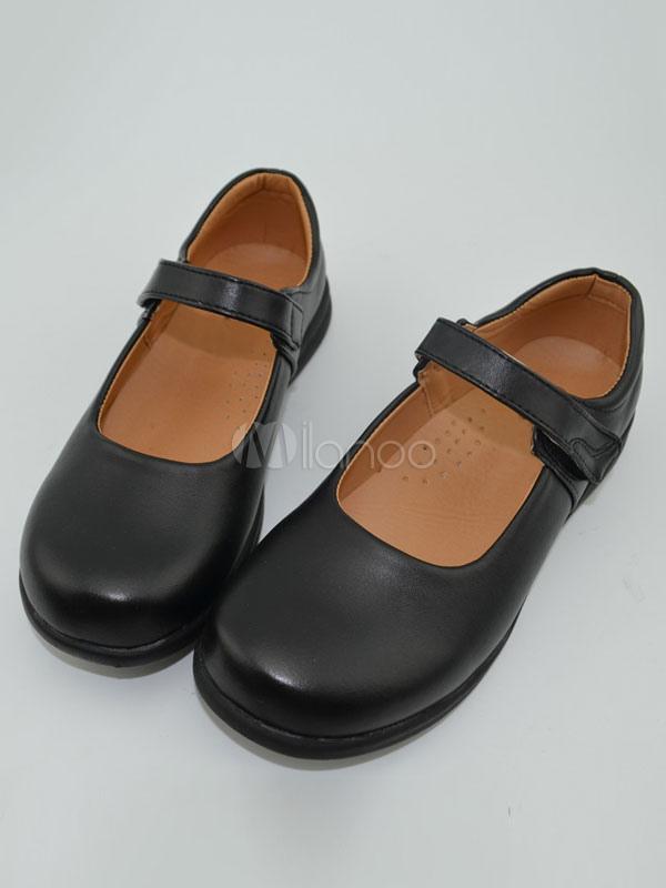 Black Lolita Leather Cosplay Shoes  Halloween