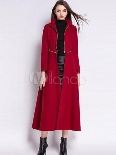 Detachable Zipped Long Coat For Women