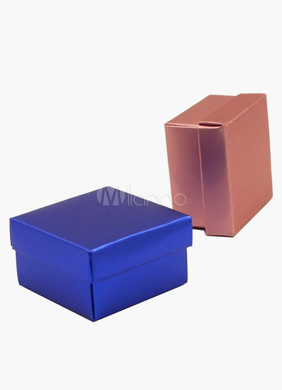 Square Specialty Paper Candy Box Favor for Wedding Set of 12