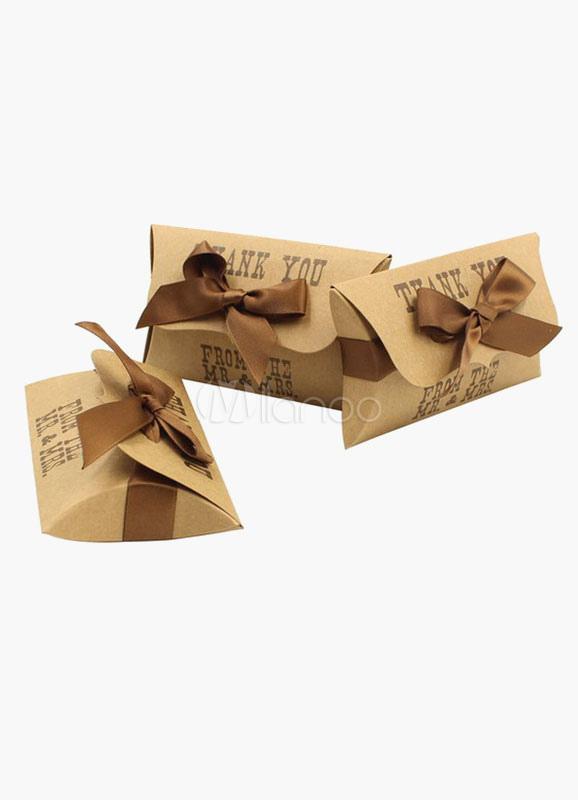 brown square specialty papierschachteln wedding favor set 12. Black Bedroom Furniture Sets. Home Design Ideas