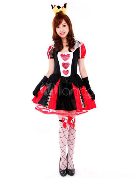 Buy Halloween Red Queen Polyester Costume 3-Piece Sexy Alice in Wonderland Costume Cosplay for Woman for $43.99 in Milanoo store