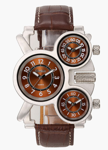 Man's Brown Alloy Fashion Watches