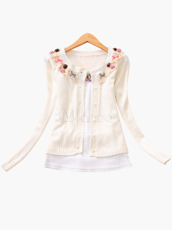 Sweet Lolita Cardigan with Knit Clothes