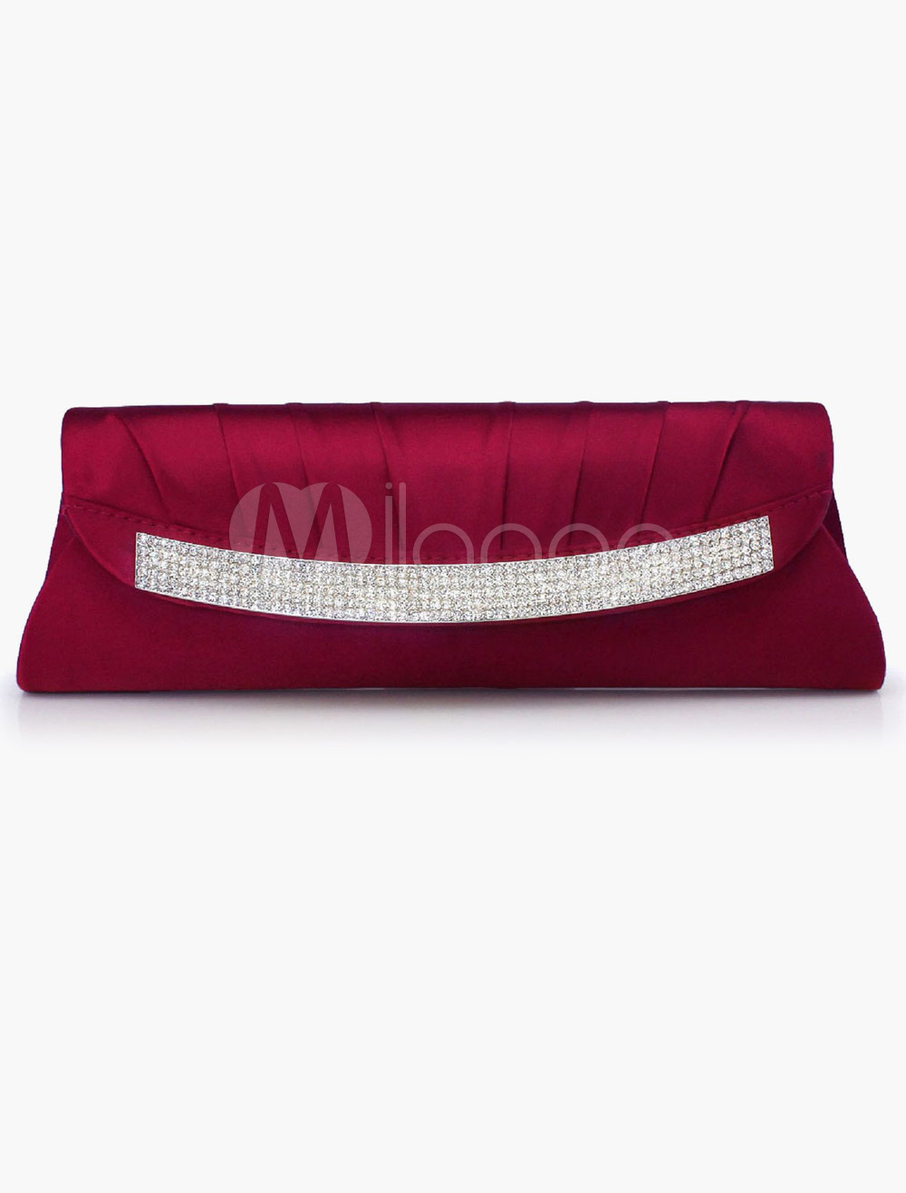 Buy Women's Rhinestone Silk Evening Bag in 6 Colors Detachable Chain for $21.59 in Milanoo store
