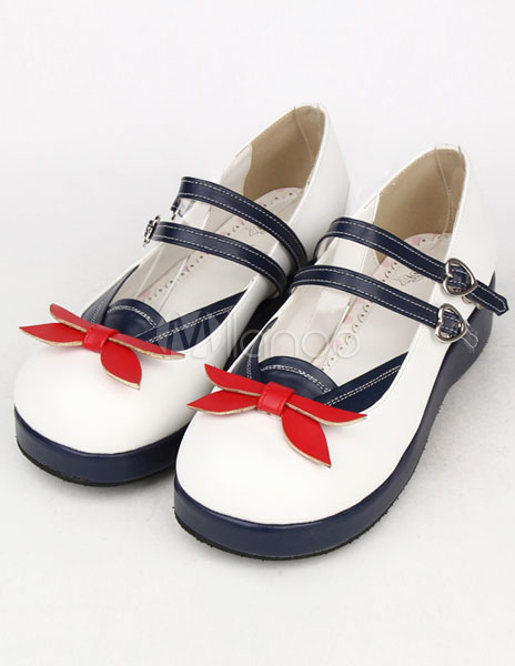 Zapatos de fiesta Lolita de PU azul para niñas jgCM07g