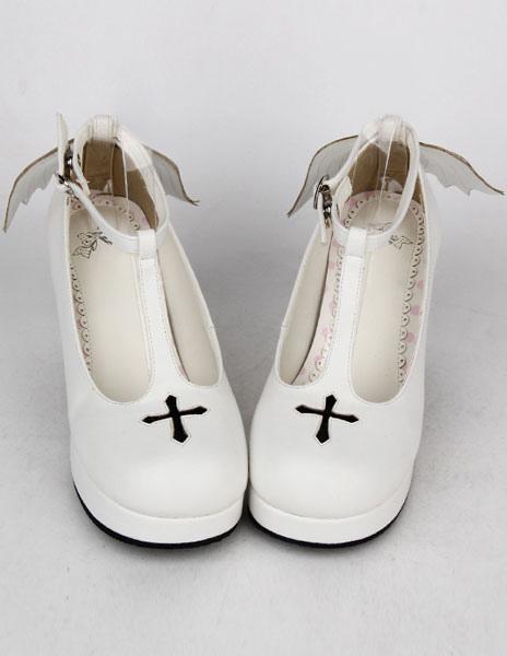 Zapatos de lolita de PU blanco WCb45lY