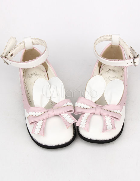 Pajarita rosa luz PU Lolita zapatos para niñas 2qYYGvi9