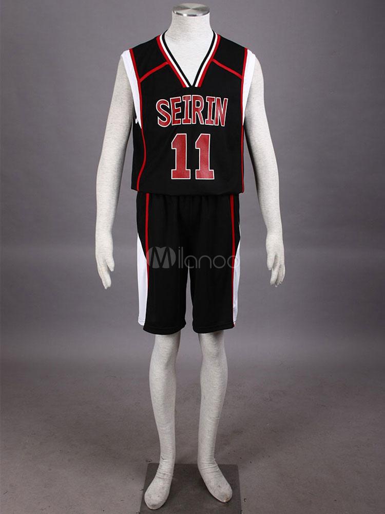Buy Black Kuroko No Basketball Kuroko Tetsuya Mesh Cosplay Costume Halloween for $44.99 in Milanoo store