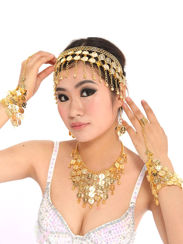 Belly Dance Costume  Headgear Gold Synthetic Bollywood Dance Accessories for Women