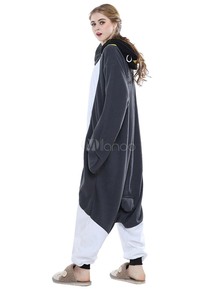 3683d1206a Kigurumi Pajamas Penguin Onesie For Adult Gray Unisex Synthetic Mascot Animal  Costume Halloween-No.