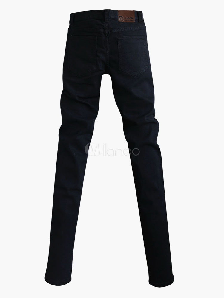 schwarz nieten baumwoll skinny jeans f r m nner. Black Bedroom Furniture Sets. Home Design Ideas