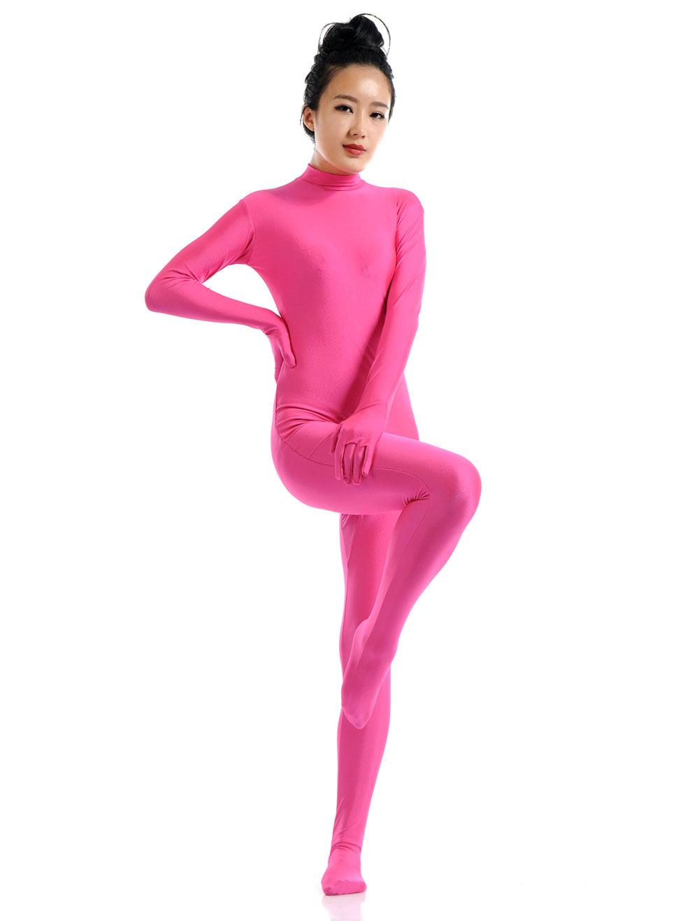 Halloween Rose Red Lycra Spandex Zentai Suit for Women Morphsuits Halloween