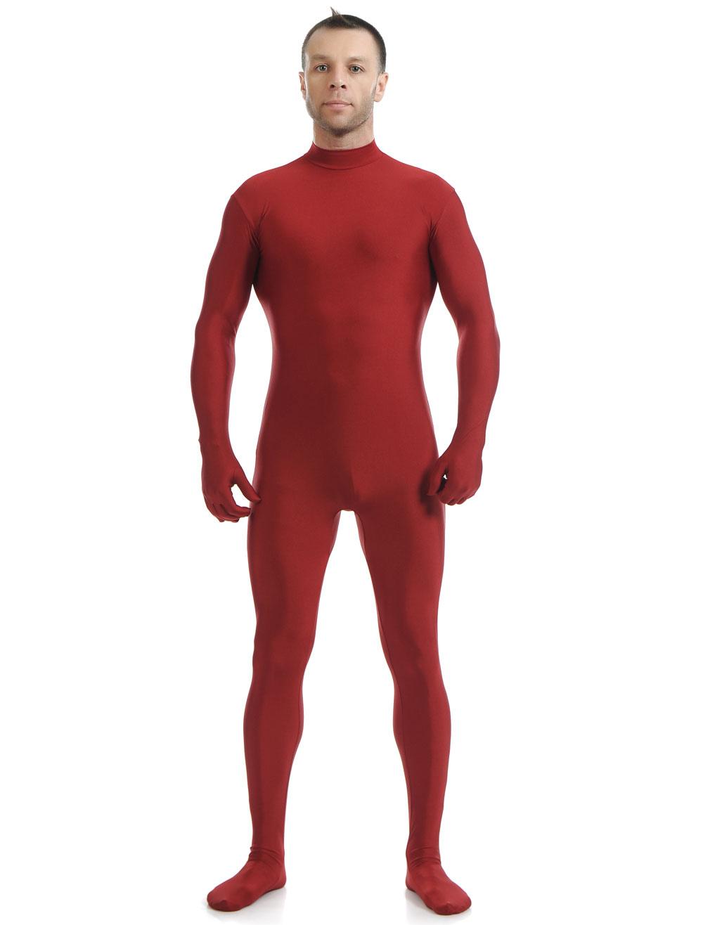Halloween Dark Green Lycra Spandex Zentai Suit for Men Morphsuits Halloween