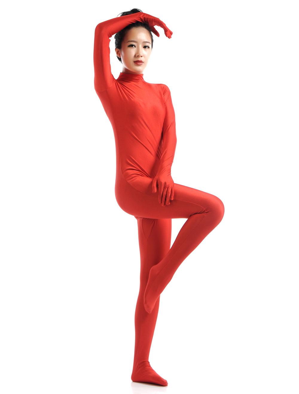 Red Lycra Spandex Zentai Suit for Halloween Morphsuits Halloween