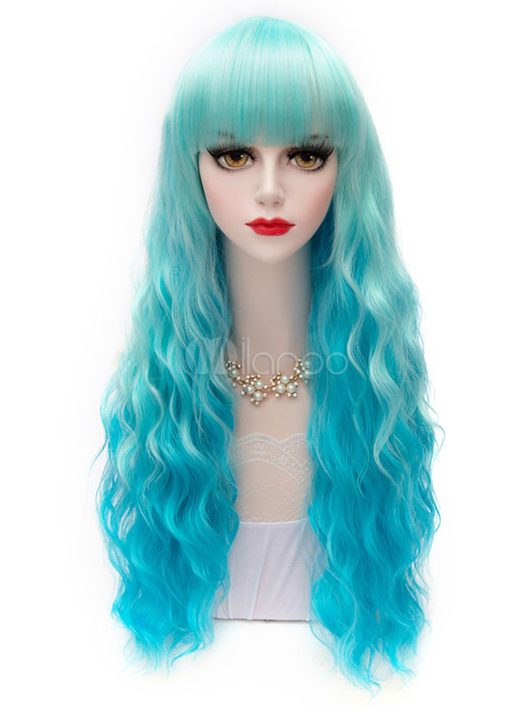 Obmre Curls Long Cosplay Wig  Halloween