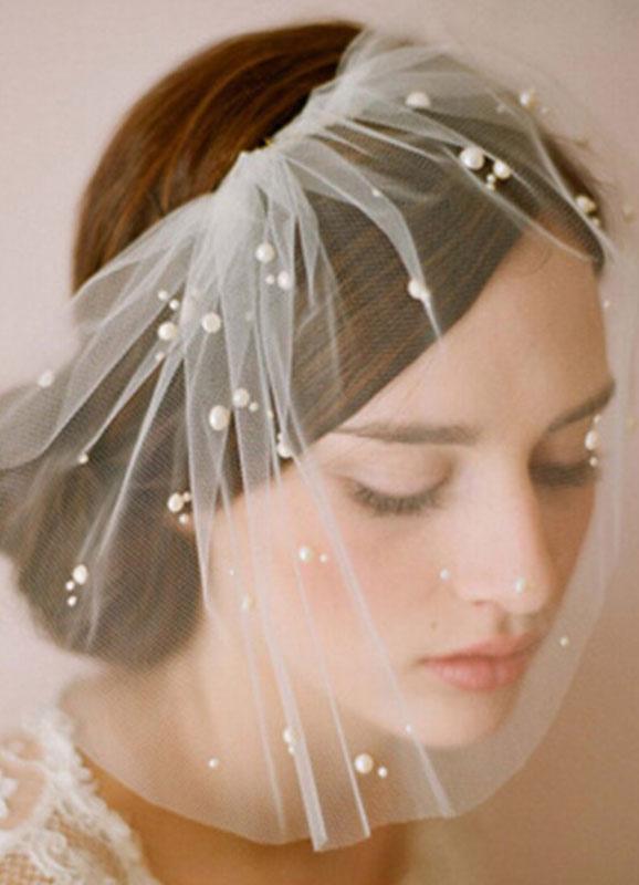 Tulle Pearl Wedding Veil