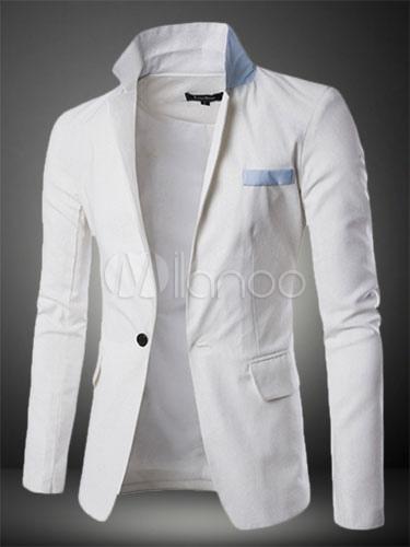 Blazer For Men Long Sleeve White Blazer Cotton Short Spring Jacket
