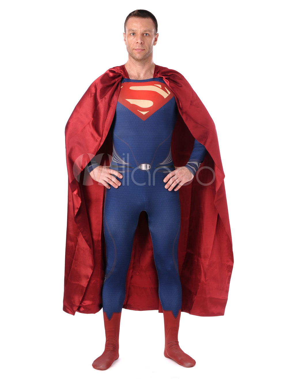 Halloween Multicolor Superman Chic Lycra Spandex Zentai Halloween