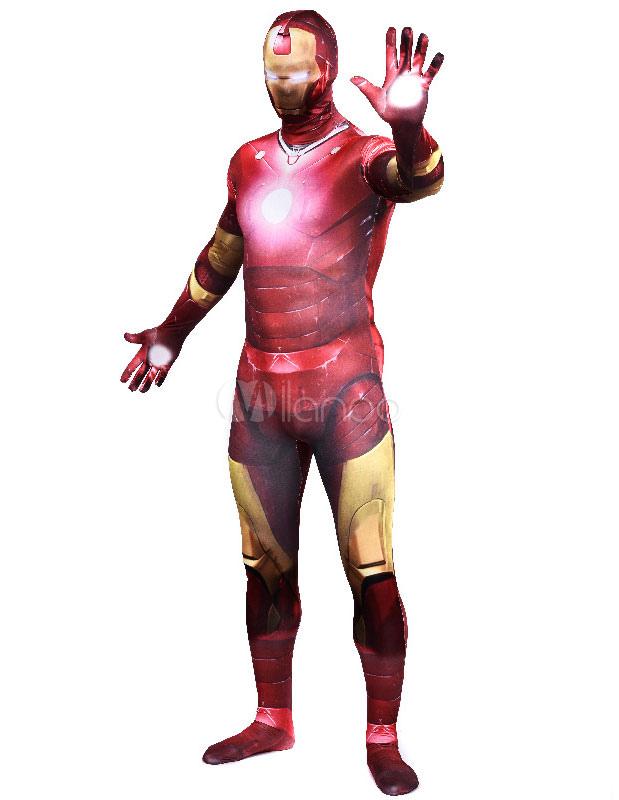Halloween Red Iron Man Lycra Spandex Superhero Zentai Halloween