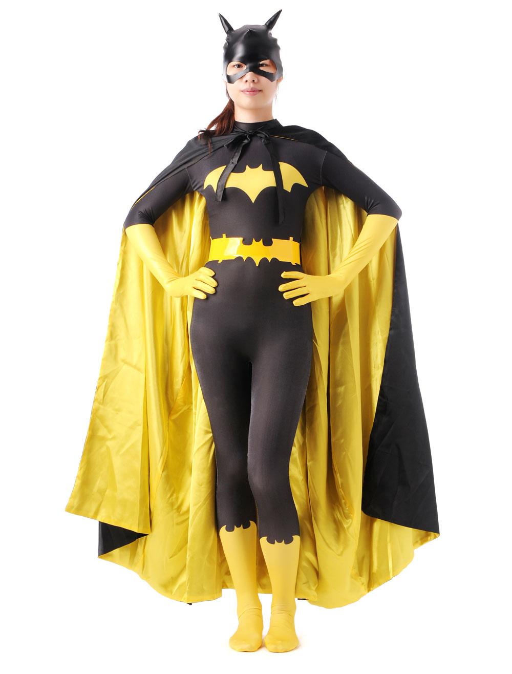 Halloween Color Block Batman Lycra Spandex Zentai Halloween