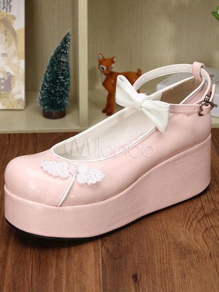 Dos tonos arcos PU Lolita zapatos para las mujeres 37lkoN8