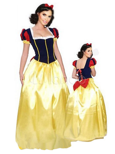 Buy Halloween Multicolor Snow White Polyester Princess Costume for Women Halloween for $26.09 in Milanoo store