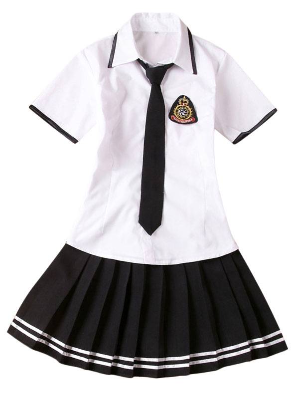 Two-Tone Tie School Cloth Uniform Costume  Halloween