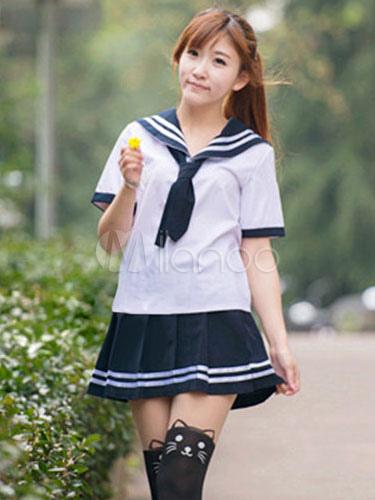 Multicolor Tie School Cloth Uniform Costume  Halloween