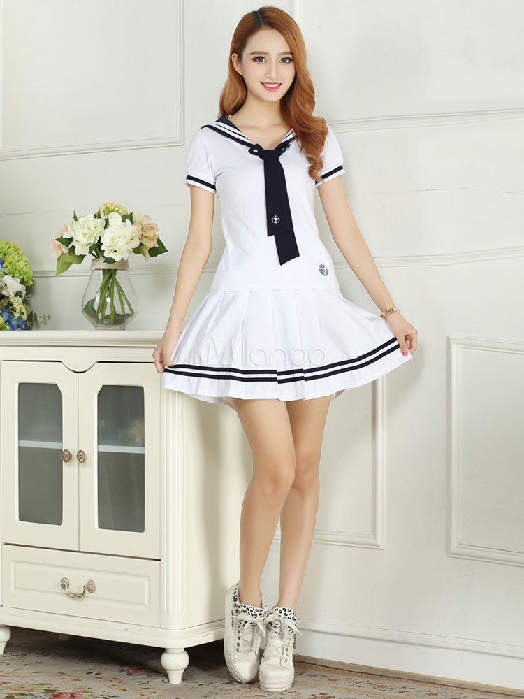 White Tie School Cloth Uniform Costume  Halloween