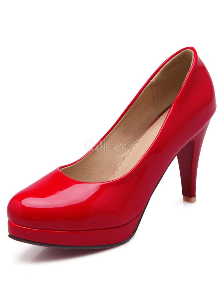 Rojos zapatos de plataforma de Charol PU iP53SqJqlV