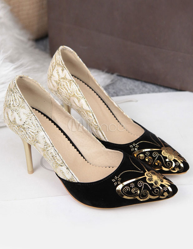 Novia Color De Terciopelo Blocking Vsmquzp Zapatos ED2IH9