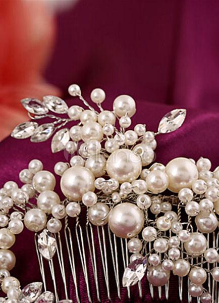 92e081ef407c Accessori per capelli sposa perla metallo avorio Gioielli - Milanoo.com