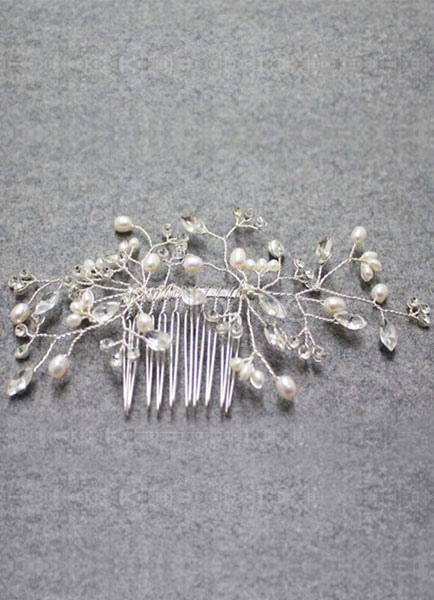8adcf5123180 Accessori per capelli sposa perle alla moda del metallo avorio Gioielli  -No.1 ...