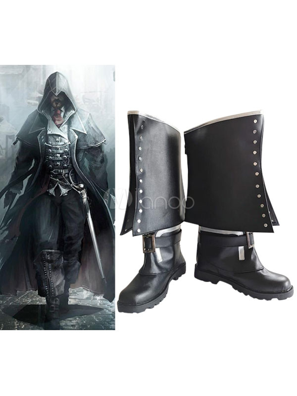 Buy Inspired By Assassin's Creed Cosplay Boots Black PU Boots Halloween for $61.99 in Milanoo store