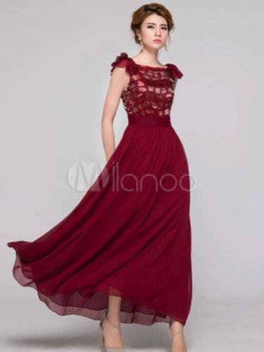 953c38ad5dd Robe longue bordeaux robe chic pas cher