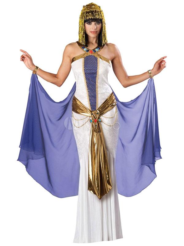 f0f13fdfbb Traje de poliéster de Halloween Muticolor antiguo egipcio Cleopatra  Halloween-No.1
