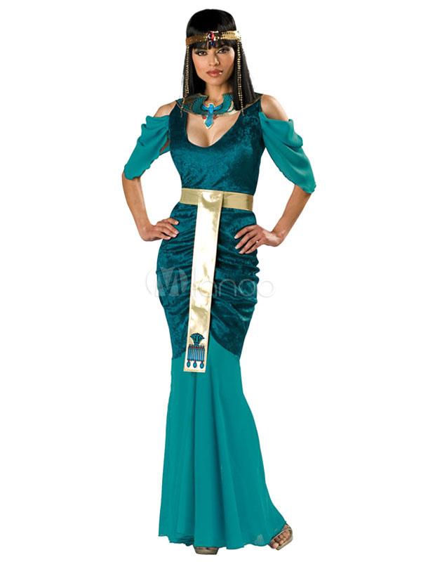 3935367b50 Halloween vestido verde egipcia Cleopatra juego de tronos poliéster Traje  Cosplay -No.1